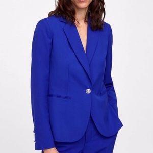 Zara Basic royal blue blazer